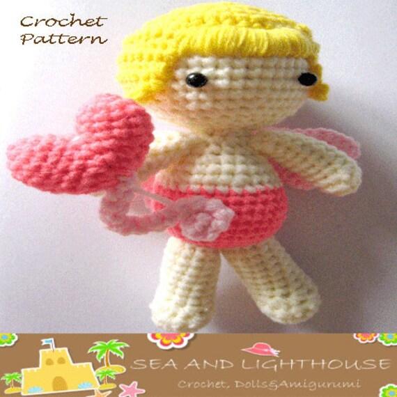 Amigurumi Pattern-Lovely Cupid Crochet Pattern,Dolls Crochet Pattern, Ami pattern,Amigurmi Crochet Dolls Pattern,Crochet Cupid,PDF pattern
