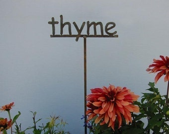 Metal Garden Sign/Marker for HERBS - herb sign for the garden 12 to choose from...19 Inches Tall
