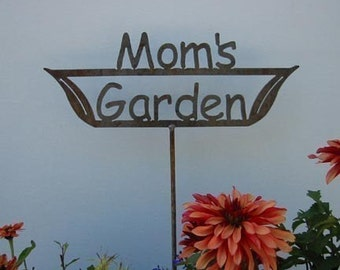 Great Mothers Day Gift - Mom's OR Nana's OR Grandma's Garden Sign Metal Stake or Choose from 9 different sayings...