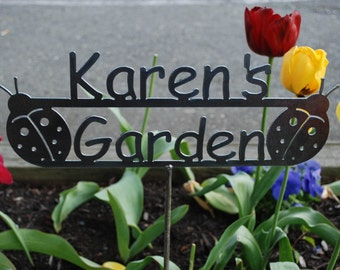 Custom Name Garden Sign with YOUR NAME Personalized - 17 Design Styles to choose from