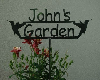 Great BIRTHDAY or Fathers Day Gift - Custom Name Garden Sign with Your Name Personalized 14 Styles to choose from