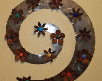 Art Swirl Magnet Board  - Metal - Steel - FITS LOTS of Magnets