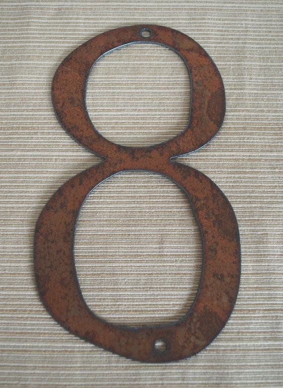 Rustic Metal Letters And Numbers Captivating Individual House Numbers Rustic Metal 4 Inch To 8 Inch Decorating Design