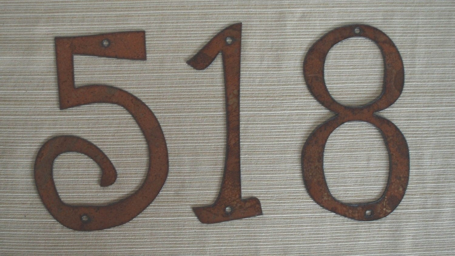 Modern Metal Letters Pleasing Individual House Numbers Rustic Metal 4 Inch To 8 Inch Design Inspiration