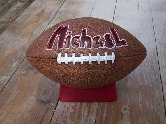 Personalized Ceramic Football Lamp Nightlight