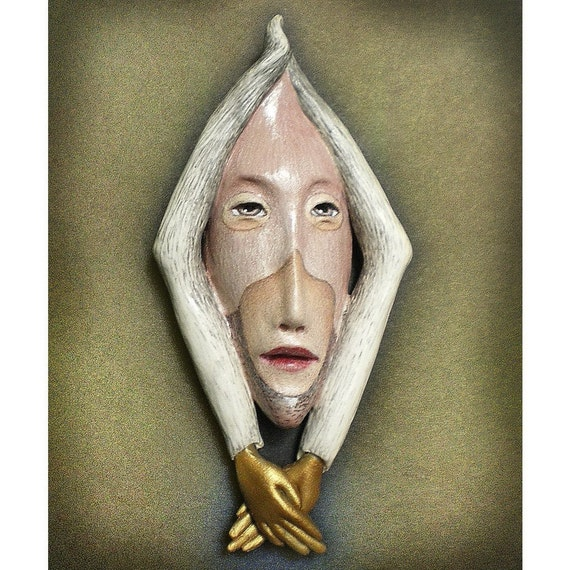 Ms. Understood - Ceramic mask sculpture