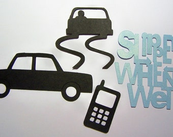 Die cut car cell phone slippery when wet cards diy for Slippery when wet tattoo