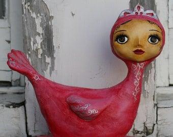 Pink lady Art Doll OOAk