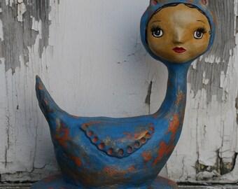 Blue bird Art Doll