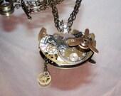 Propellor Driven Steampunk Necklace sold geneva