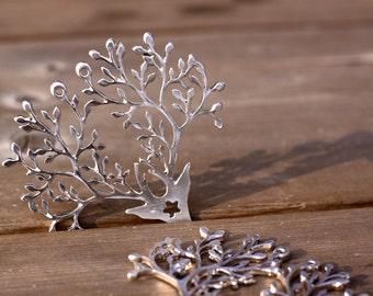beautiful antler (silver)