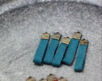 Bluish green Ribbon Charm