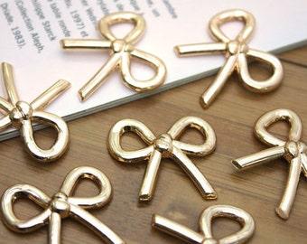 The mini gold ribbon