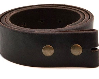 "Medium Brown Leather 1 1/2"" Belt blank"