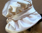 Christian Dior Hat Chapeaux Paris - New York Ivory Satin Cloche Size Small