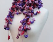 Reserved for Charmaine Clearance Sale Marshmallow Scarf II in Muted Plums