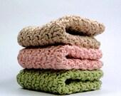 Spring Sands Silky Cotton Crochet Dishcloth, Crochet Cotton Washcloth