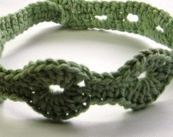 Sage Green Adjustable Boho Headband