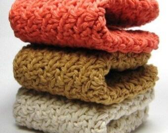 Crochet Washcloths Cotton Dishcloths