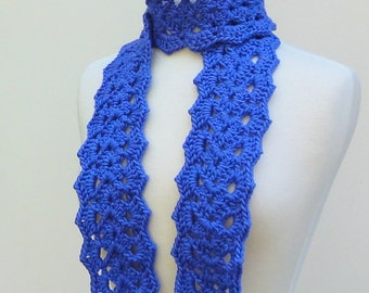 Purple Crochet Scarf Silk Lace Neck Warmer