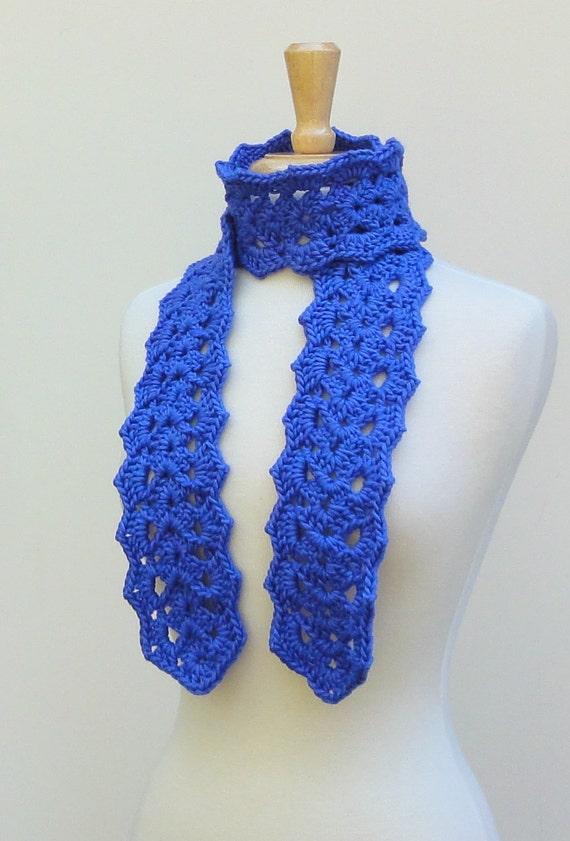 Purple Crochet Scarf Silk Lace Neck Warmer