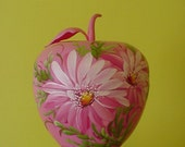 VINTAGE HAND PAINTED PINK APPLE CONTAINER BITS O GLAMOUR MITCHELL GOULD 50'S CHIC