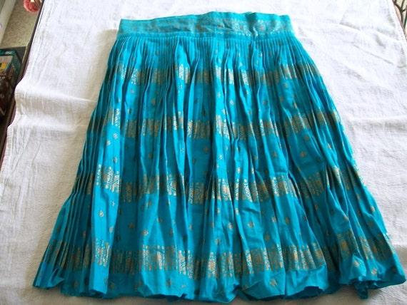 Vintage Half Apron. Pleated Apron,  Blue Aprons