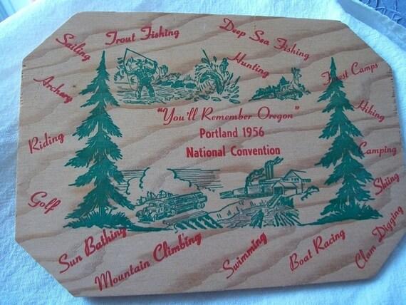 Vintage Souvenir Wood Plaque - Jaycees - Oregon