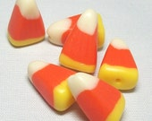Candy Corn Beads - Halloween - Polymer Clay - Handmade - Looks like the Real Candy