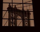 Manhattan Bridge - Brooklyn, NY 12 X 12  Photo on to Canvas/Home Decor/ Wall Decor/ Affordable Fine Art