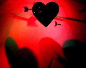 "Shot to the Heart- Love Series - 8 X 10"" Photo Print /Home Decor,/ Wall Decor/ Affordable Fine Art"