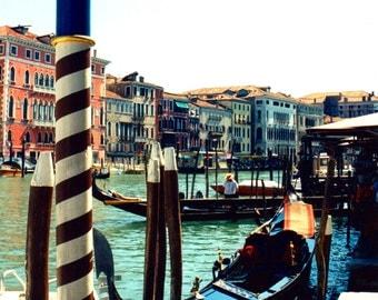Venice - Gondola 12 X 12 Photo on canvas