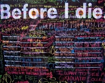 Before I Die Wall  - 3 Brooklyn, NY /  8 X 10 Print/ Affordable Home Decor/ Fine Art Photography/ Fall Decor/ Brooklyn Decor
