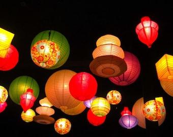 Colors of the Lantern Festival - 8 X 10  Fine Art Photograph -Affordable Home Decor