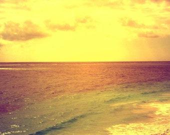 Sunset at El Rey - Yucatan Peninsula, Mexico /  10 X 10 Photo Print/ Affordable Home Decor/ Fine Art Photography/ Fall Decor