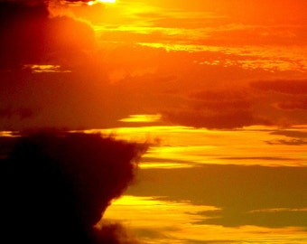 Sunset at El Rey  2- Yucatan Peninsula, Mexico /  8 X 10 Photo Print/ Affordable Home Decor/ Fine Art Photography/ Fall Decor
