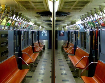 affordable home decor nyc vintage subway car etsy 10333