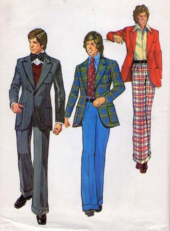 1970's Men's Suit Pattern Simplicity 5765
