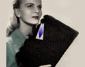 Vintage Clutch Handbag Crochet Pattern ... 1940's .... PDF ... C4826