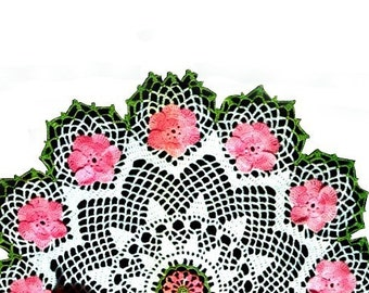 "19"" Wild Rose Doily Pattern, Vintage Doily Pattern.  Crochet...Digital ..Instant Download PDF ... J478"