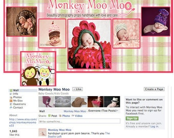 New Facebook Landing Page Custom made with your pictures or graphics OOAK