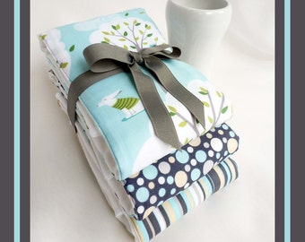 Baby Shower Gift, New Baby Boy Gift, Burp Cloth Gift Set, Feeding, Nursing, Burping Accessory, Diaper Bag Gift Item, Best Diaper Burp Cloths
