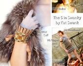 25% off SALE! GLADIATOR SWANK. The 5 in 1 Swanky by Kat Swank- Buy 1 and wear it 5 ways- headband, choker, upper arm, wrist or ankle cuff