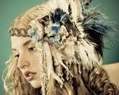 Kat Swank Custom Headdress Headband- Heirloom quality, wearable textile art- Your colors. LIAISON
