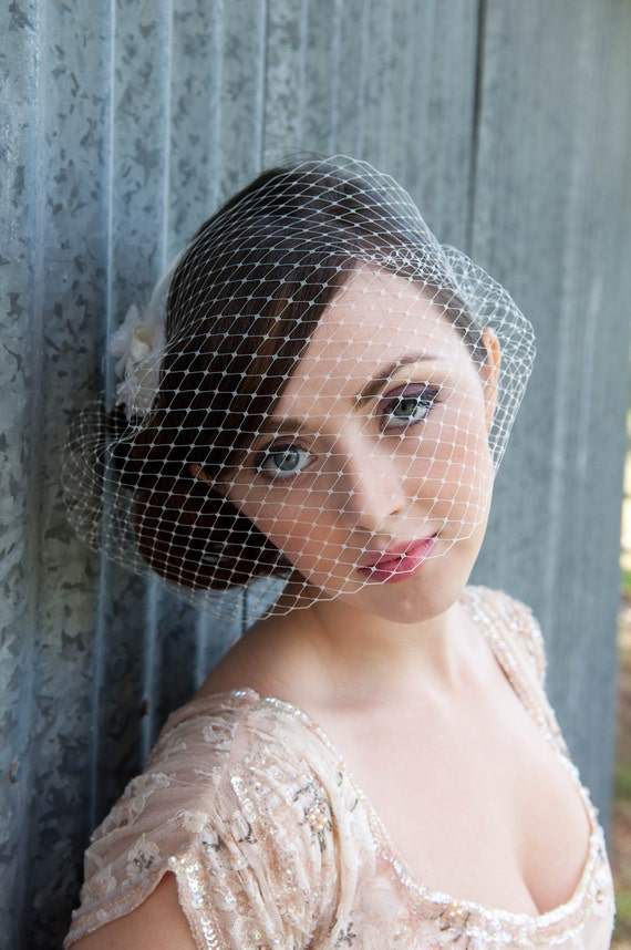 Liaison by Kat Swank Birdcage Veil- Made to Order- Custom Colors