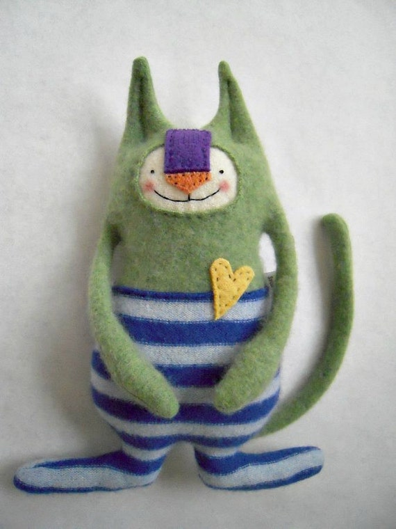 Cashmere Stuffed Animal Circus Cat with a Heart of Gold