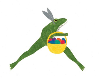 "Frog ""Easter Bunny"" Card"