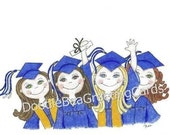 RSERVED for MCG - Graduation Cards - Girls Graduation - Choose Your Color (GradYear) Personalize