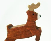 Wooden Reindeer Toy- Christmas Eco-friendly Gift- Waldorf