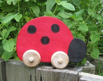 READY TO SHIP - Ladybug Push Toy